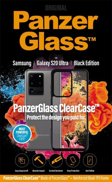 PanzerGlass ClearCase mit Blackframe Samsung Galaxy S20 Ultra