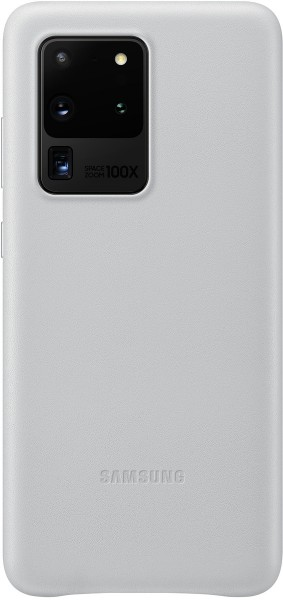 Samsung Leather Cover EF-VG988 f. Galaxy S20 Ultra, Light Gray