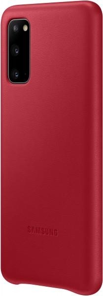 Samsung Leather Cover EF-VG980 für Galaxy S20, Red