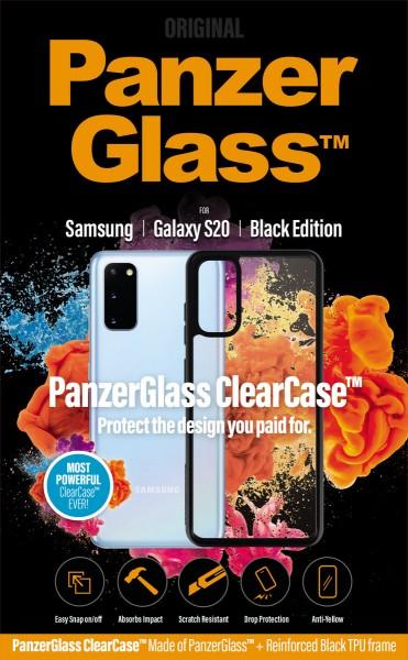 PanzerGlass ClearCase mit Blackframe für Samsung Galaxy S20